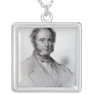 Viscount Palmerston, engraved by Emery Walker Silver Plated Necklace