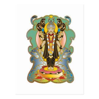 Vishnu Hindu Deity God Postcard