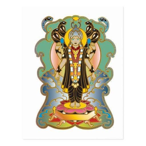 Vishnu Hindu Deity God Postcards