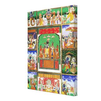 Vishnu in the centre of his ten avatars, Jaipur, R Canvas Print