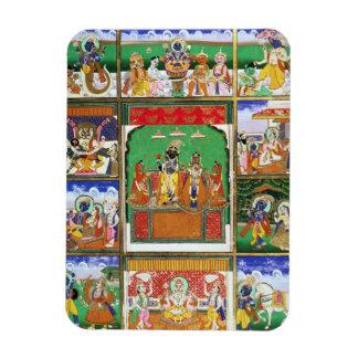 Vishnu in the centre of his ten avatars, Jaipur, R Rectangular Photo Magnet
