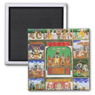Vishnu in the centre of his ten avatars, Jaipur, R Square Magnet