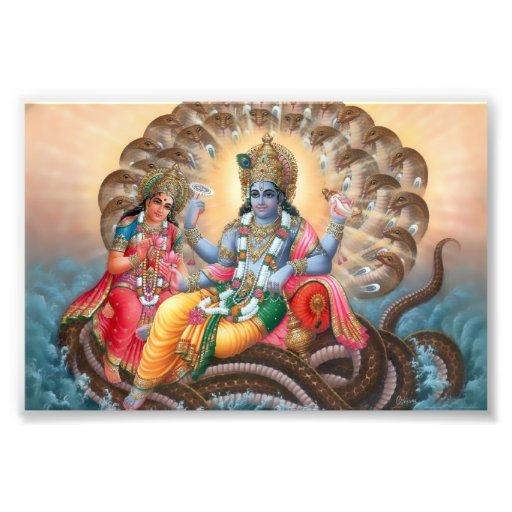 "Vishnu & Lakshmi print (6"" x 4"") Art Photo"