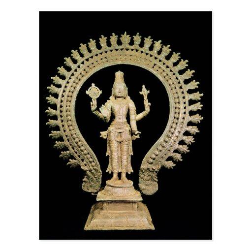 Vishnu, Late Chola Post Card