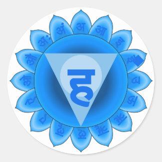 Vishuddha The Throat Chakra Round Sticker