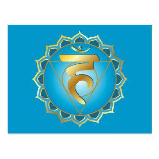vishuddhi or throat chakra Postcard