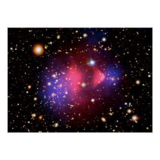Visible-Light and X-Ray Composite Image of Galaxy Poster