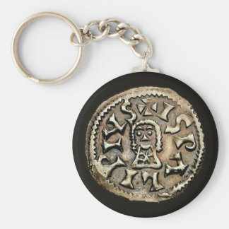 Visigoth Chindaswinth Gold Coin Reverse Key Ring