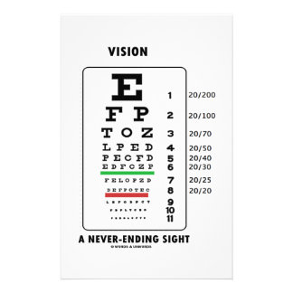 Vision A Never-Ending Sight (Snellen Chart) Personalized Stationery