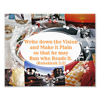Vision board with Bible verse Write down the Visio Art Photo