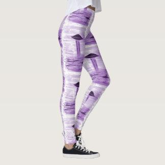 VISION-D8 - UFO art by EelKat - purple Leggings