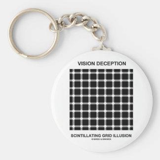 Vision Deception Scintillating Grid Illusion Keychain