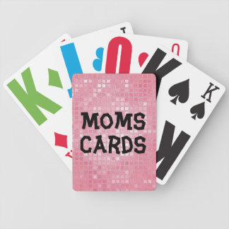Vision Impaired Mum Bicycle Playing Cards