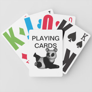 Vision Impaired Panda Playing Cards