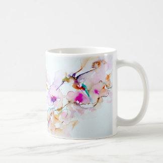 """Vision in Pink"" Hummingbird Print Coffee Mug"