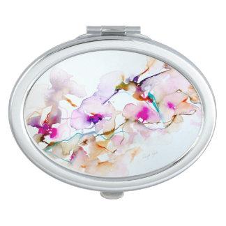 Vision in Pink Hummingbird Print Travel Mirrors