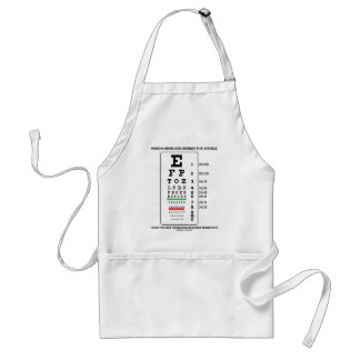 Vision Involves Seeing The Visible (Snellen Chart) Standard Apron