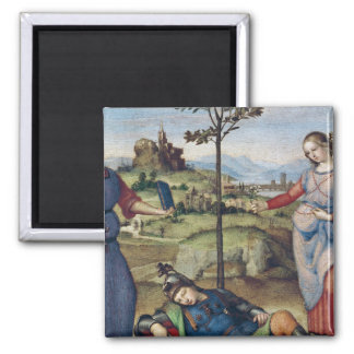 Vision of a Knight, c.1504 Square Magnet
