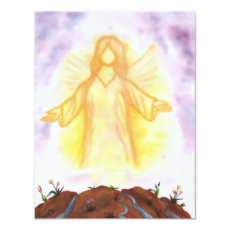 vision of an angel appearing and shining card