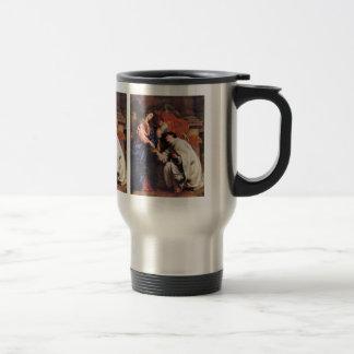 Vision of Hermann Joseph by Antoon van Dyck Stainless Steel Travel Mug