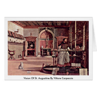 Vision Of St. Augustine By Vittore Carpaccio Card