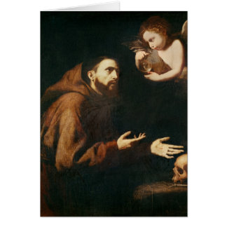 Vision of St. Francis of Assisi Card