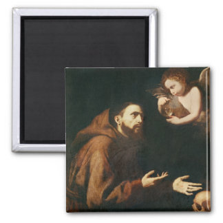 Vision of St. Francis of Assisi Square Magnet