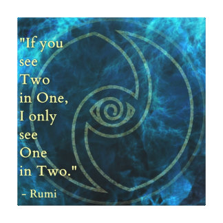 Vision Rumi and Poetic Art Canvas Print