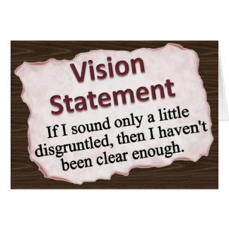 Vision Statement Note Card