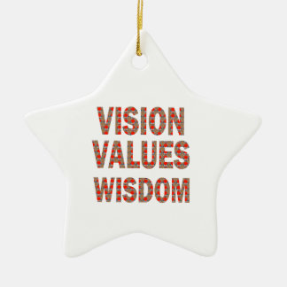 VISION Values Wisdom Elegant Text LOWPRICE GIFTS Ornament