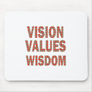 VISION Values Wisdom : Elegant Text LOWPRICE GIFTS Mousepads