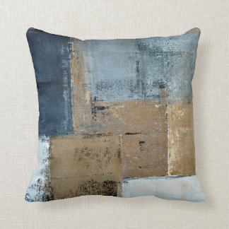 'Visionary' Neutral Abstract Art Cushion