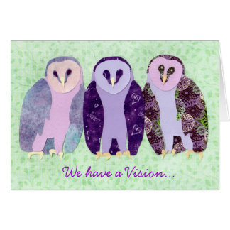Visionary Owls Card