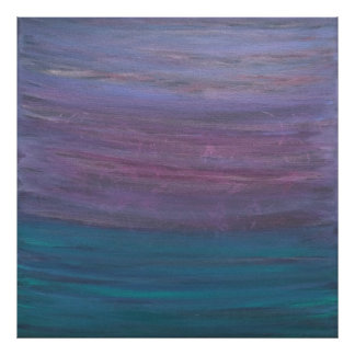 Visionary Pink Purple Turquoise Teal Jewel Tones Poster