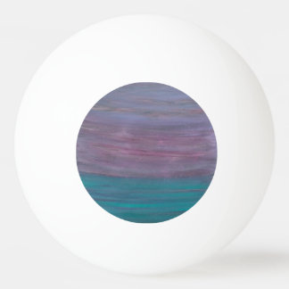 Visionary Sporty Pink Purple Turquoise Teal Chic Ping Pong Ball