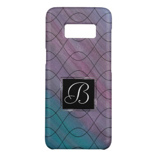 Visionary Tech | Monogram Pink Purple Teal Blue | Case-Mate Samsung Galaxy S8 Case