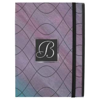 "Visionary Tech | Monogram Pink Purple Teal Blue | iPad Pro 12.9"" Case"