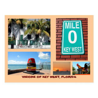 Visions of Key West, Florida Postcard