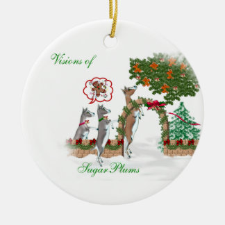 Visions of SugarPlums Goat Christmas Christmas Ornament