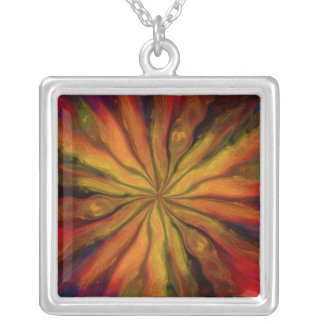 Visions of Van Gogh Square Pendant Necklace