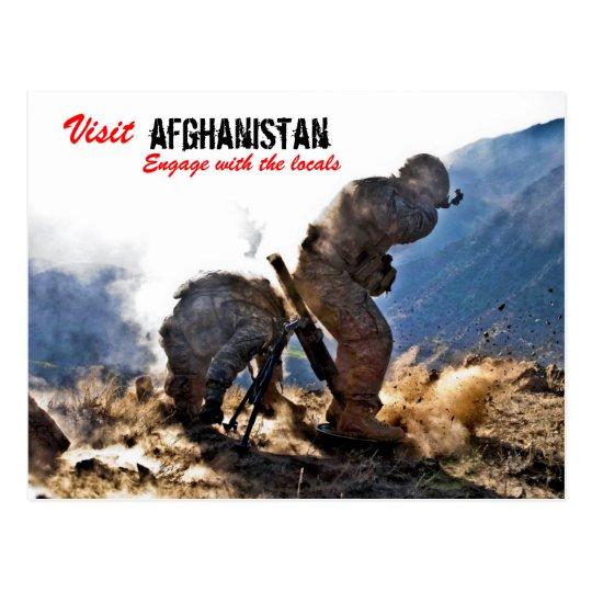 Visit Afghanistan ISAF postcard