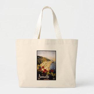 Visit Amalfi Poster Jumbo Tote Bag