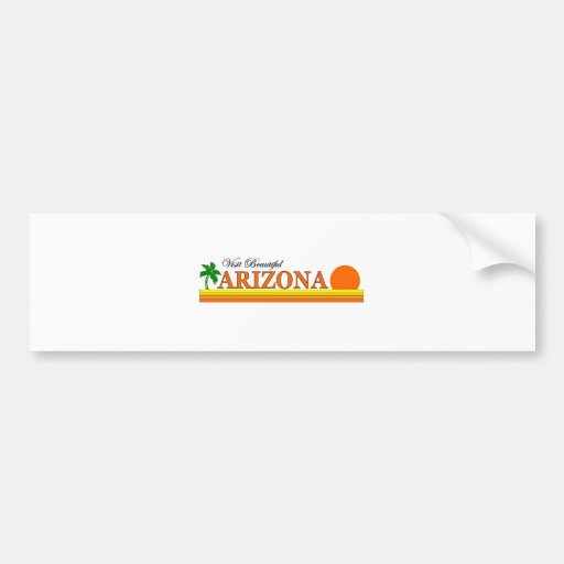 Visit Beautiful Arizona Bumper Sticker