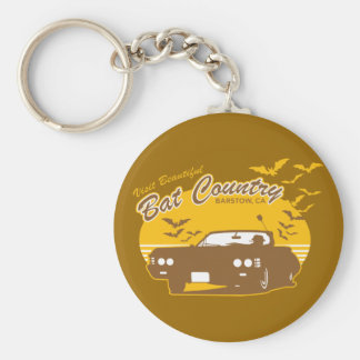 Visit beautiful bat country, barstow, ca basic round button key ring