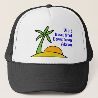 Visit Beautiful Downtown Akron Trucker Hat