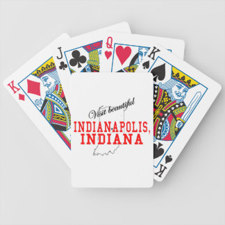 Visit Beautiful Indianapolis Bicycle Poker Cards