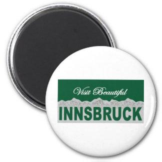 Visit Beautiful Innsbruck 6 Cm Round Magnet