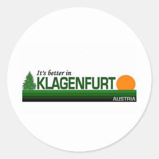 Visit Beautiful Klagenfurt, Austria Round Stickers