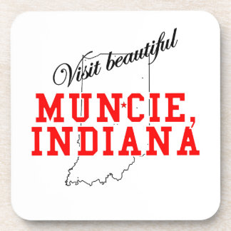 Visit Beautiful Muncie Indiana Beverage Coaster