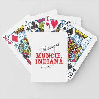 Visit Beautiful Muncie Indiana Bicycle Card Decks